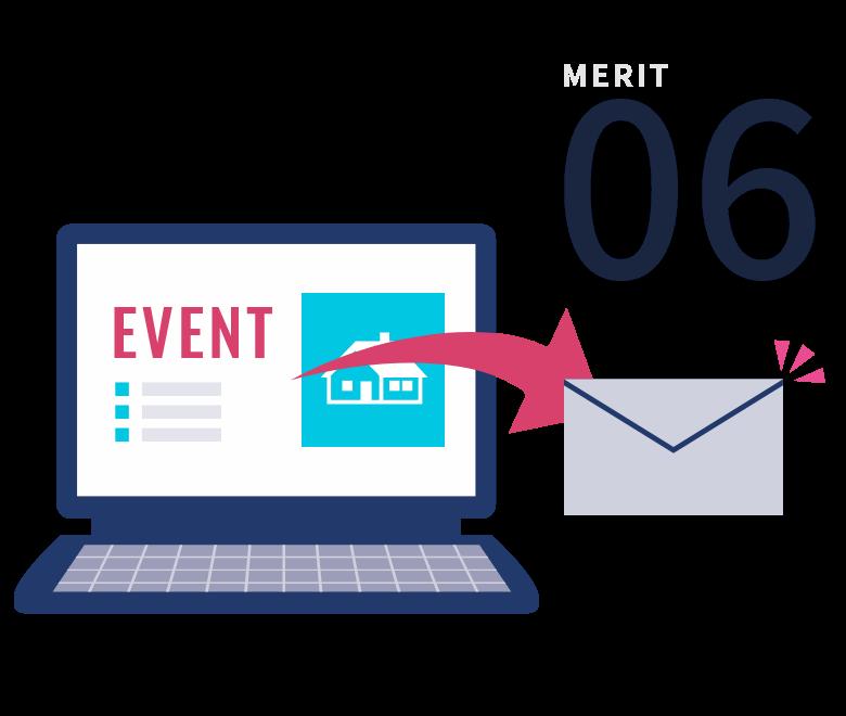 営業メール機能で安定した追客と効率化を実現