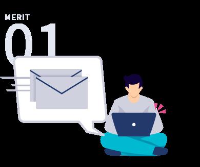 ポータルサイトの自動取り込み・即時メール返信で素早くフォローが可能